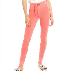 Wildfox Fifi Lace Up Skinny Sweatpants
